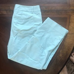 WHBM straight crop pants mint green color